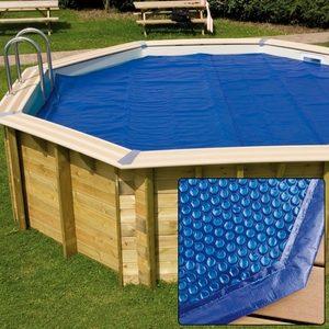 Copertura estiva a bolle per piscine in legno Ø 5 m.-0