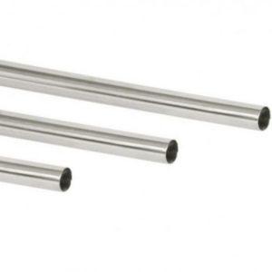 Corrimano diritto in acciaio inox con 1 estremità chiusa e l'altra aperta.-0
