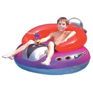 Poltrona gonfiabile UFO con pistola ad acqua.-0