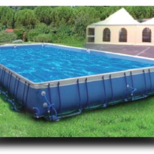 Piscina MARETTO Event Best h 125 - 6x10 m - Colore Azzurro.-0