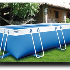Piscina MARETTO Comfort h 125 - 2x4m - Colore Azzurro.-0