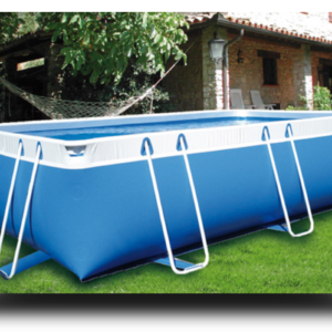 Piscina MARETTO Comfort h 125 - 2,5x4,5m - Colore Azzurro.-0