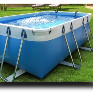 Piscina MARETTO Comfort h 100 - 2,5x4,5m - Colore Azzurro.-0
