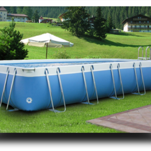 Piscina MARETTO Luxury Large h 125 - 3x9m - Colore Azzurro.-0