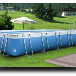 Piscina MARETTO Luxury Large h 125 - 4x7m - Colore Azzurro.-0