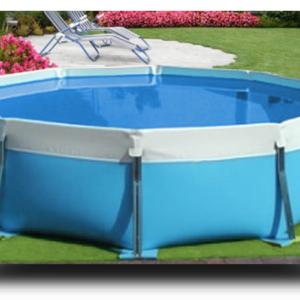 Piscina MARETTO Round Water h 125 - Ø 4,5 m - Colore Azzurro.-0