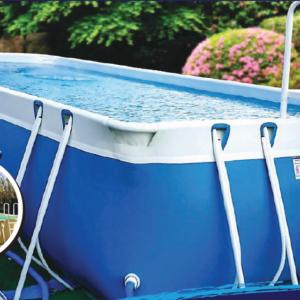 Piscina MARETTO Luxury Large h125 - 4x8m - Colore Azzurro + KIT Piscina.-0