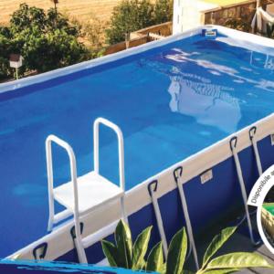 Piscina MARETTO Luxury Large h 140 - 4x8m - Colore Azzurro + KIT Piscina.-0