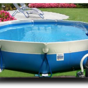 Piscina MARETTO Round Water h 100 Ø 4 m - Colore Azzurro + KIT Piscina.-0
