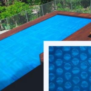 Coperture estive a bolle per piscine in legno rettangolari - 4,60 x 8,10 m.-0