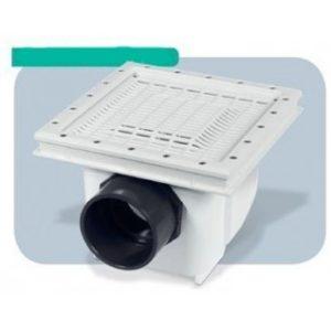Presa Di Fondo Aquamax Con Griglia Antivortice - D.110F – 125 M - In ABS 315x315 per rivestimento in PVC.-0