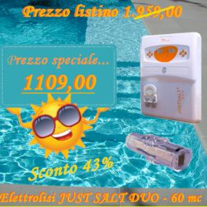 Elettrolisi JUST SALT DUO 60 cm MX20g/hNR-0
