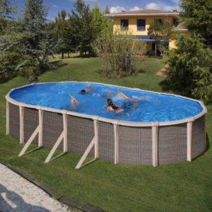 Piscine fuori terra Ovale Fusion Pool H 135 cm.-0